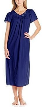 Plus Size Tricot Flutter Sleeve Long Gown