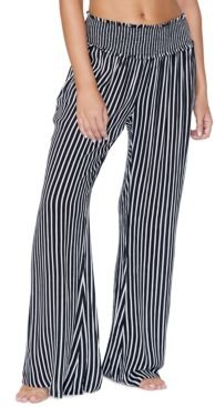 Juniors' Beach Day Striped Cover-Up Pants Women's Swimsuit