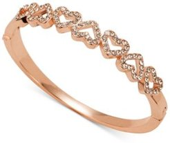 Rose Gold-Tone Pave Open Heart Bangle Bracelet, Created for Macy's