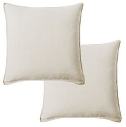 "Washed Linen Square Pillow, 20"" x 20"" - Set of 2"