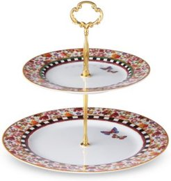 Melli Mello Isabelle Floral Collection 2-Tier Server, Exclusively available at Macy's