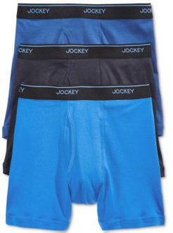 3 Pack Essential Fit Staycool + Cotton Boxer Briefs