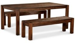 """Avondale Large Dining, 3-Pc. Set (72"""" Dining Table & 2 Benches), Created for Macy's"""