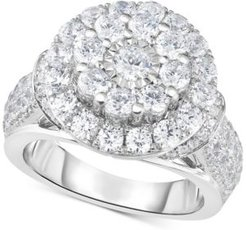 Diamond Double Halo Engagement Ring (3 ct. t.w.) in 14k White Gold
