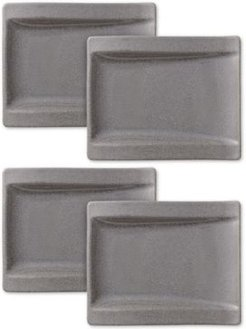 New Wave Stone Set of 4 Appetizer Plates