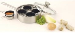 4-Cup Stainless Steel Egg Poacher Set