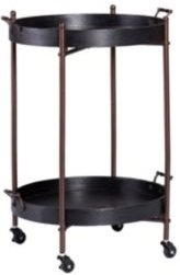 Alfred Two-Tier Round Butler Table