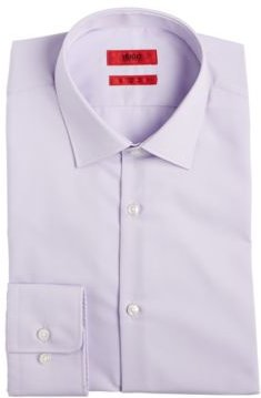 Hugo Men's Slim-Fit Light Purple Solid Dress Shirt