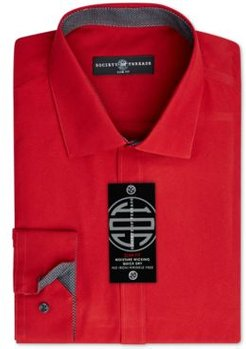 Slim-Fit Non-Iron Performance Solid Dress Shirt