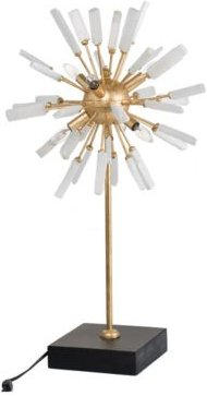Florrie Metal And Stone Table Lamp, Tall