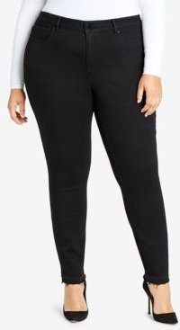 Trendy Plus Size High-Rise Ripped Skinny Jeans