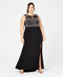 Trendy Plus Size Beaded Gown