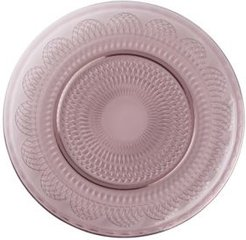 Global Tapestry Glass Charger Plum