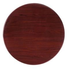"""Offex 24"""" Round Resin Mahogany Table Top"""