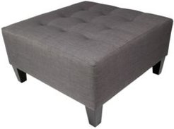 Milo Button Tufted Upholstered Large Ottoman