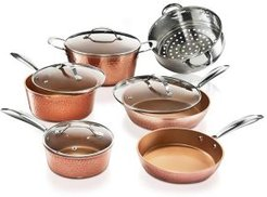 Hammered Copper 10-Pc. Cookware Set