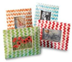 "Kindwer Set of 4 Chevron Bone 4"" x 6"" Photo Frames"