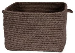 Chunky Natural Wool Square Braided Basket