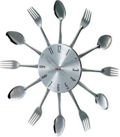 Metal Fork And Spoon Wall Clock
