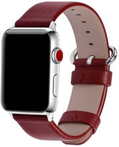 Solid Color Leather Apple Watch Strap 42mm