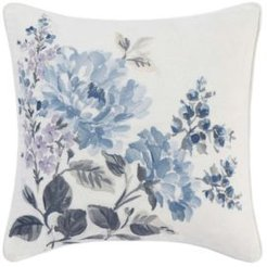 Chloe Floral Embroidered Square Pillow Bedding