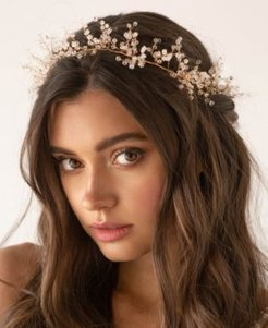 Imitation Pearl Boho Bridal Hair Crown