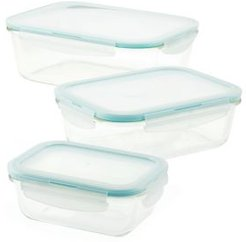 Purely Better Glass Rectangular 6-Pc. Food Storage Container Set