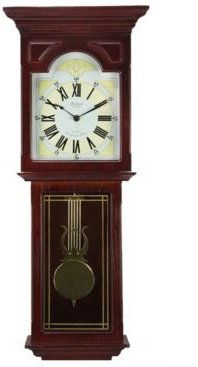 """Clock Collection 23"""" Wall Clock with Pendulum and Chime"""