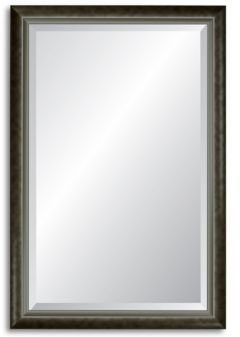 Reveal Modern Smoked Silver Beveled Wall Mirror