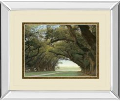 """Alley of The Oaks by William Guion Mirror Framed Print Wall Art, 34"""" x 40"""""""