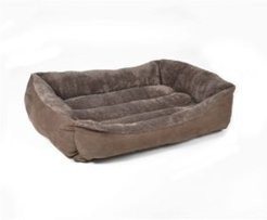 Plush to Suede Rectangle Pet Bed