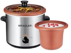 2-in-1 Clay Slow Cooker and Yogurt Maker, 2 Qt