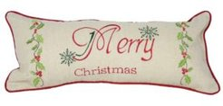 """Happy Holiday Pillow Collection, 18"""" x 8"""""""
