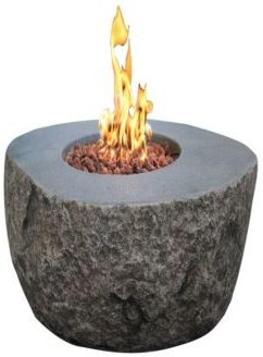 "43"" Boulder Outdoor Fire Pit Table Natural Gas"