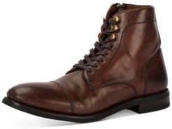 Ben Cap-Toe Leather Lace-Up Boots, Created for Macy's Men's Shoes