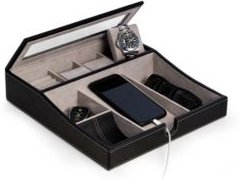 Valet Tray with Multi-Compartment Storage