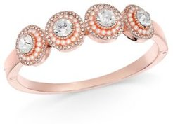 Crystal & Imitation Pearl Cluster Bangle Bracelet, Created for Macy's