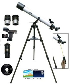 800mm x 72mm Day and Night Refractor Telescope Kit with Electronic Focuser, Handbox Remote and Tripod