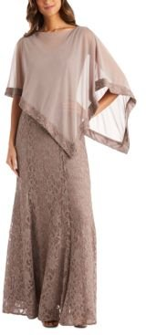 Poncho & Gitter-Lace Gown