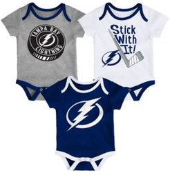 Baby Boy and Girl Tampa Bay Lightning Cuddle & Play Creeper Set