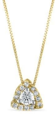 """Diamond 1/4 ct. t.w. Pendant 18"""" Necklace in 10K Yellow Gold"""