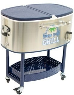 Chill Rolling Stainless Steel Cooler with Wheels - 82 Quart