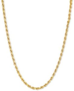 """Rope 18"""" Chain Necklace in 18k Gold-Plated Sterling Silver"""