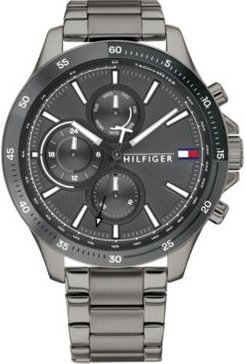 Chronograph Gunmetal Stainless Steel Bracelet Watch 46mm, Created for Macy's