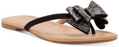 Inc Women's Mabae Bow Flat Sandals, Created for Macy's Women's Shoes