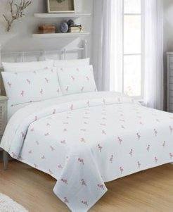 Flamingo Full/Queen Coverlet Bedding