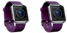 Unisex Fitbit Blaze Purple Silicone Watch Replacement Bands - Pack of 2