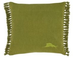 Tommy Bahama Island Essentials Canvas Fringe Throw Pillow