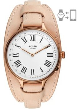 Eleanor Blush Leather Strap Hybrid Smart Watch 36mm