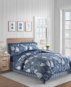 Seashell 8-Pc. Queen Comforter Set Bedding